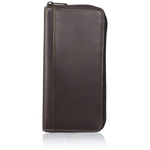 Dopp Men'S Regatta Leather Zipper Passport Organizer Wallet, Brown, One Size