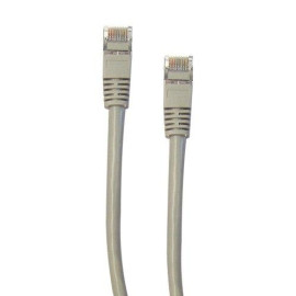 Shielded Cat5E Gray Ethernet Cable, Snagless/Molded Boot, 1 Foot