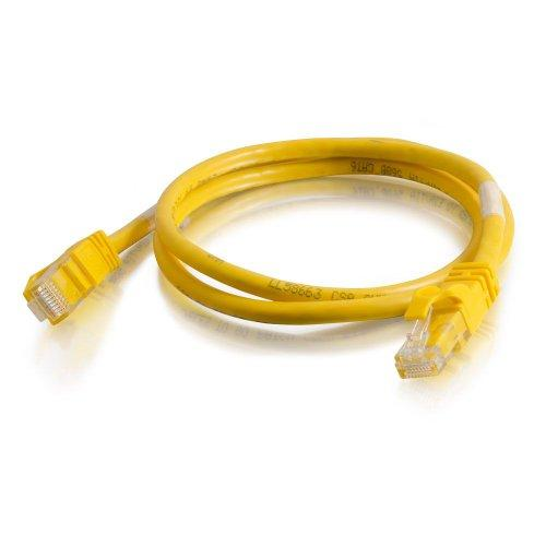 C2G 27871 Cat6 Snagless Unshielded (Utp) Crossover Patch Cable, Yellow (3 Feet, 0.91 Meters)