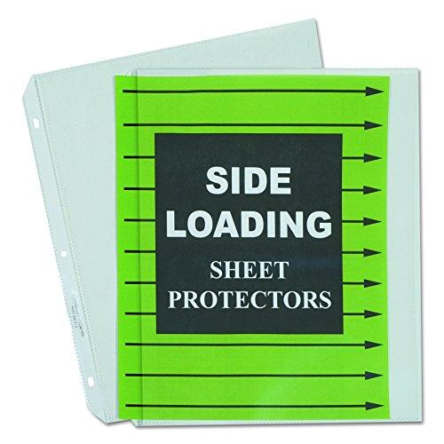 C-Line Side Loading Heavyweight Polypropylene Sheet Protector, Clear, 11 X 8-1/2 Inches, Box Of 50 (62313)