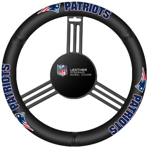 Fremont Die Nfl New England Patriots Leather Steering Wheel Cover