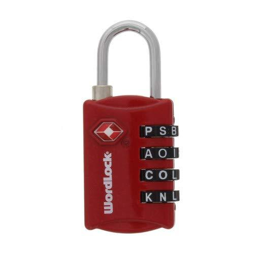 Wordlock Ll-206-Rd Tsa Approved Combination Luggage Lock - 4 Dial, Red