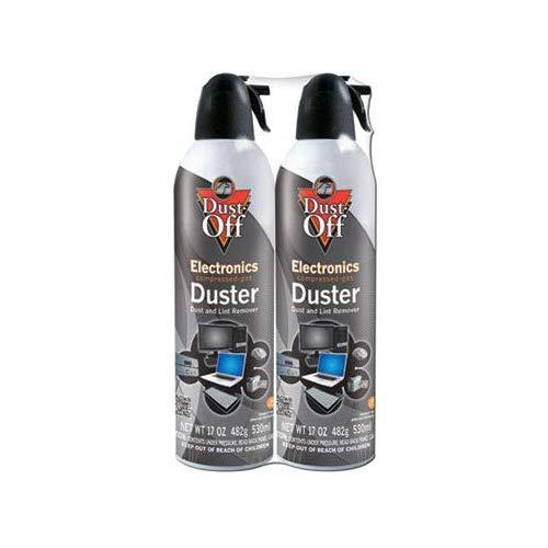Dust-Off 17 Oz Compressed Gas Duster, 2 Pack (Dpsjmb2)