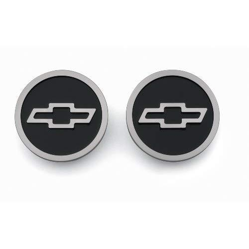 Proform 141-232 Black Billet Aluminum Freeze Plug Insert With Raised Chevy Bowtie Logo For Small Block Chevy - Pair