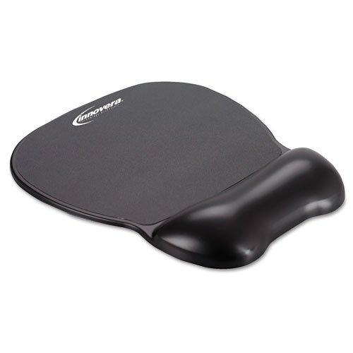 Innovera Gel Mouse Pad With Wrist Rest, Nonskid Base, 9 X 7.5 - Inches Black (51450)