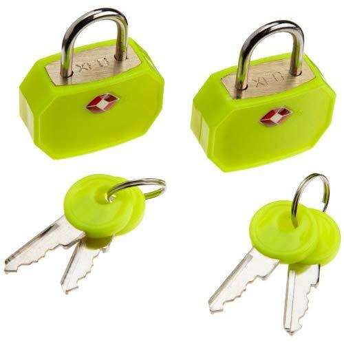 Lewis N. Clark Travel Sentry Tsa Lock + Mini Padlock For Luggage Suitcase, Carry On Backpack, Laptop Bag Or Purse-Perfect For Airport, Hotel, And Gym (Includes 4 Keys) -2 Pack, Yellow