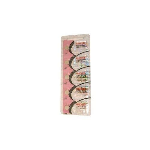 Maxell Watch Battery Button Cell Sr731Sw 329 Pack Of 5 Batteries