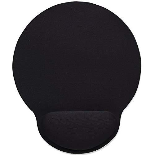 Manhattan Black Gel Mouse Pad With Wrist Rest Support 434362
