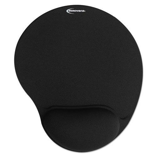 Innovera Mouse Pad With Gel Wrist Pad, Nonskid Base, 10-3/8 X 8-7/8 Inches, Black (50448)