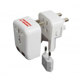 Digipower Acp-Wta World Travel Adapter With Built-In Usb Charger - White