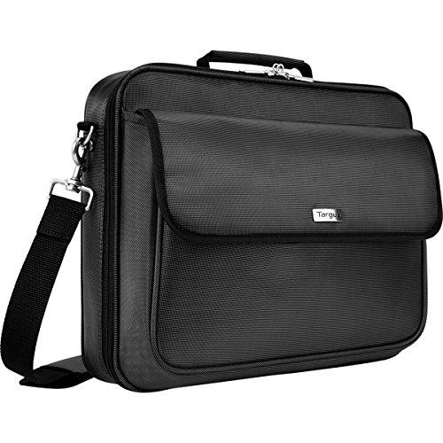 Targus Traditional Clamshell Case And Messenger Bag For 16-Inch Laptop With Zip-Thru Checkpoint Friendly Design, Black (Tbc023Us)