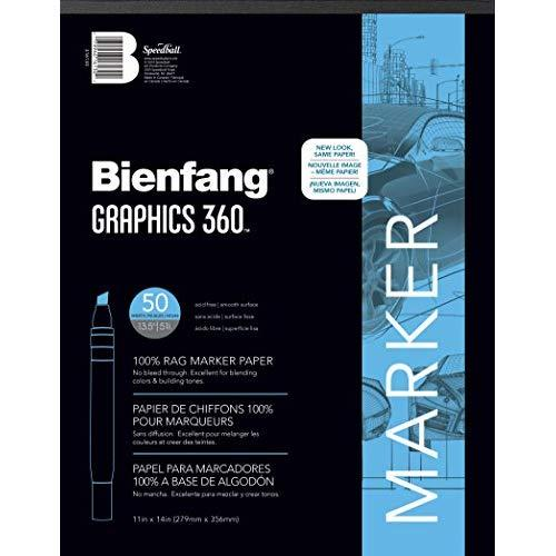 Bienfang Graphics 11 By 14-Inch 360 Paper Pad, 50 Sheets