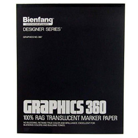 Bienfang Graphics 14-Inch By 17-Inch 360 Paper Pad, 100 Sheets
