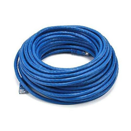 Monoprice 50Ft 24Awg Cat6 550Mhz Utp Ethernet Bare Copper Network Cable - Blue