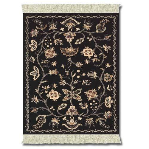 Lextra Somerset Colonial Williamsburg Mouserug, 10.25 X 7.125 Inches, Black, Peach And Cream, One (Mws-1)