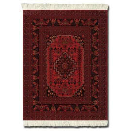 Lextra Antique Red Afghan Mouserug, 10.25 X 7.125 Inches, Black, White And Dark Orange, One (Sra-Se)