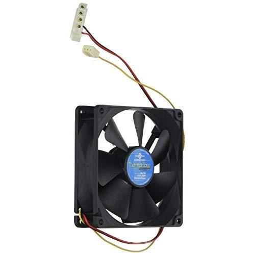 Vantec Thermoflow Tf9225 92X92X25Mm Double Ball Bearing Temperature Controlled Case Fan (Black)