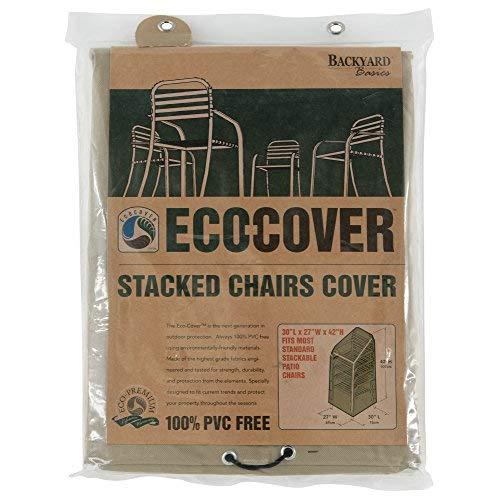 Mr. Bar-B-Q Backyard Basics Eco-Cover Pvc Free Premium Stacked Chairs Cover, 30 By 27 By 42 Inches