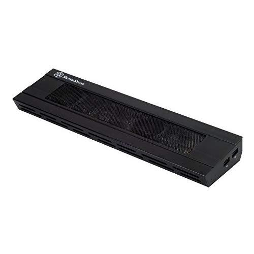 Silverstone Nb02B Aluminum Notebook Docking Station W/Cooling Fan (Black)
