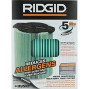Ridgid Vf6000 Genuine Replacement 5-Layer Allergen, Fine Dust, And Dirt Wet/Dry Vac Filter For Ridgid 5-20 Gallon Vacuums