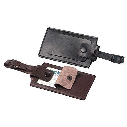 Winn Napa Leather Security I.D. Luggage Tag, Brown