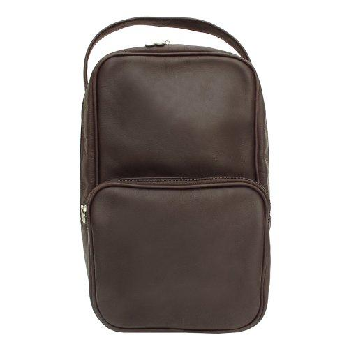Piel Leather Carry-All Vertical Shoe Bag, Chocolate, One Size
