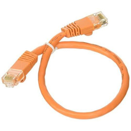 Professional Cable Category 5E Ethernet Network Patch Cable With Molded Snagless Boot, 1-Feet, Orange (Cat5Or-01)