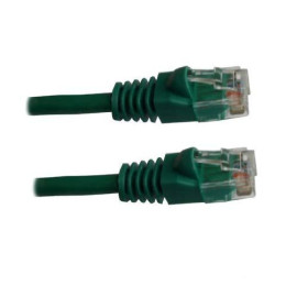 Xavier Cat5Gn-01 Cat5E, Ethernet Patch Cable Molded Snagless Boots, Internet Cable, 1', Green