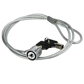 Insten Notebook And Security Cable Chain Lock W/Two Keys, 3 Ft Silver, Compatible With Kensington Security Slot