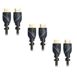 3 Pack Of Hdmi 6 Feet Cables Category 2 (Full 1080P Capable)