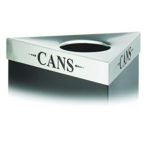 Safco Products 9560Cz Trifecta Waste Receptacle Lid, Cans (Trifecta Base Sold Separately), Stainless Steel