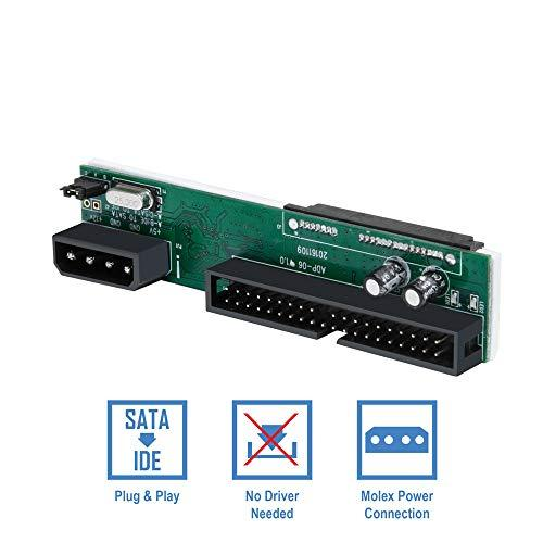 Kingwin Ssd/Sata To Ide Bridge Board Adapter, Convert All Sata Devices Easily To Ide.  Support 2.5 Inch, 3.5 Inch Hdd, &Amp; Compatible W/ Sata I/Ii/Iii Hard Drives