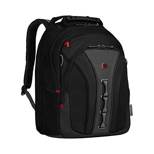 "Wenger 600631 The Legacy Notebook Carrying Backpack, 16"", Black/Gray (Wa-7329-14F00)"