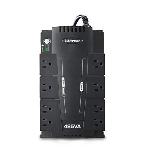 Cyberpower Cp425Slg Standby Ups System, 425Va/255W, 8 Outlets, Compact