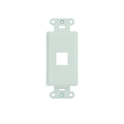On-Q Wp3411Wh High Impact Flame Retardant Plastic 1-Port Decorator Outlet Strap, 1-Pack, White