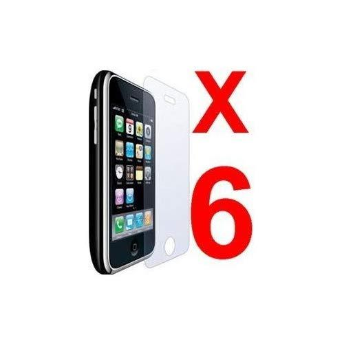 Importer520 6 Pcs Clear Screen Protector Film Covers For Apple Iphone 3G 3Gs