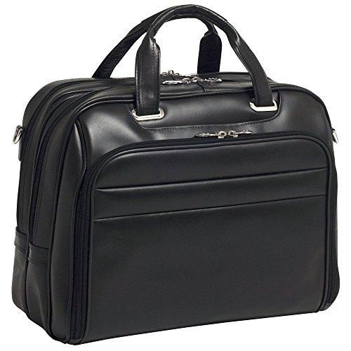 """Mckleinusa 86595 R Series, Springfield, Top Grain Cowhide Leather, 15"""" Leather Laptop Briefcase, One Size, Black"""