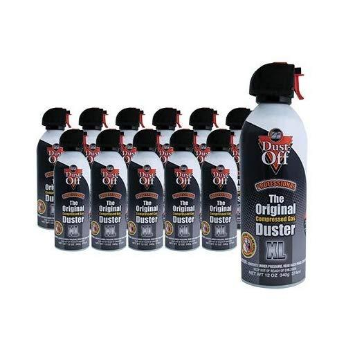 Falcon Dust-Off Professional Electronics Compressed Air Duster, 12 Oz (12 Pack)