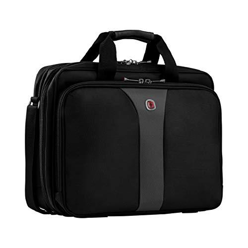 "Wenger Wa-7652-14F00 Legacy 16"" Double Gusset Laptop Case, Black/Gray"