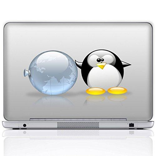 Meffort Inc 15 15.6 Inch Laptop Notebook Skin Sticker Cover Art Decal (Included 2 Wrist Pad) - Penguin Planets
