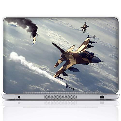 Meffort Inc 15 15.6 Inch Laptop Notebook Skin Sticker Cover Art Decal (Included 2 Wrist Pad) - Fighter Jet Missile