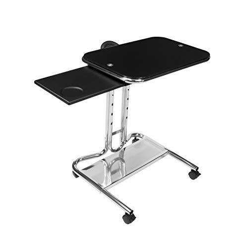 Calico Designs 51200 Laptop Cart With Mouse Tray In Chrome And Black Glass