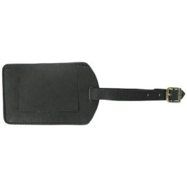 Piel Leather I.D. Tag, Black, One Size
