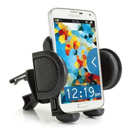 Car Mount Air Vent Phone Holder Cradle By Usa Gear With Adjustable Display &Amp; 360 Degree Rotation - Works With Samsung Galaxy, Motorola Droid, Apple Iphone And Many More Smartphones