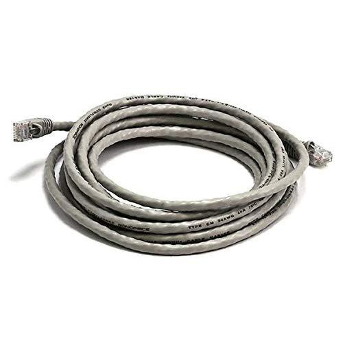 Monoprice Cat6 Ethernet Patch Cable - Network Internet Cord - Rj45, Stranded, 550Mhz, Utp, Pure Bare Copper Wire, 24Awg, 14Ft, Gray