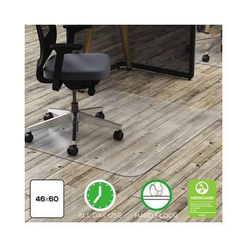 """Deflect-O Clear Polycarbonate Chair Mat For Hard Floors, 46""""W X 60""""D"""
