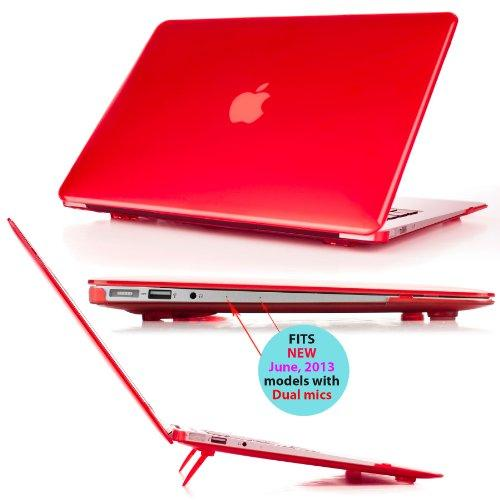 Mcover Ipearl Hard Shell Cover Case With Free Keyboard Cover For 13.3-Inch Apple Macbook Air A1369 & A1466 - Red