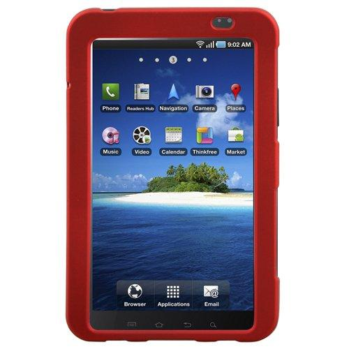 Hypercel Rubberized Snapon Cover For Samsung Galaxy Tab - Dark Red