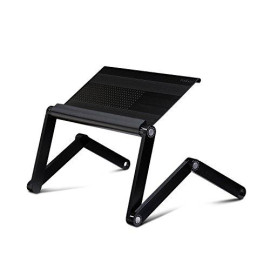 Furinno Adjustable Vented Laptop Table Laptop Computer Desk Portable Bed Tray Book Stand Multifuctional &Amp; Ergonomics Design Dual Layer Tabletop Up To 17""