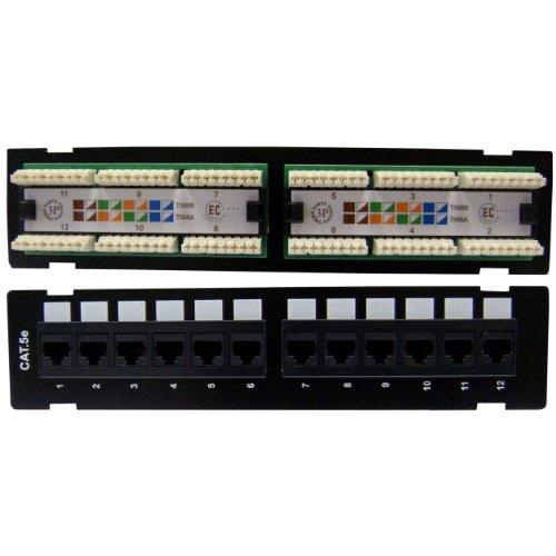 Wall Mount 12 Port Cat5E Patch Panel, 110 Type, 568A &Amp; 568B Compatible, 10 Inch